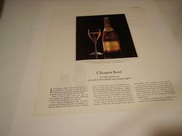 ANCIENNE PUBLICITE LE CHAMPAGNE VEUVE CLIQUOT ROSE 1979 - Alcohols
