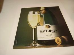 ANCIENNE PUBLICITE LE CHAMPAGNE TAITTINGER 1978 - Alcohols