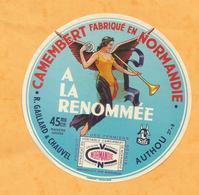 EURE ETIQUETTE CAMEMBERT Trompette RENOMMEE AUTHOU BERNAY MONTFORT SUR RISLE JN181 - Fromage