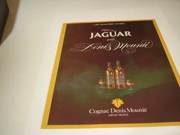 ANCIENNE PUBLICITE COGNAC DENIS MOUNIE MONSTRE SACRES JAGUAR 1980 - Alcohols