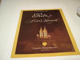ANCIENNE PUBLICITE COGNAC DENIS MOUNIE MONSTRE SACRES RITZ 1979 - Alcohols