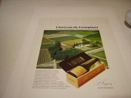 ANCIENNE PUBLICITE COGNAC CHATEAU DE FRONTPINOT 1979 - Alcohols