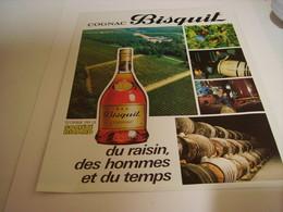 ANCIENNE PUBLICITE COGNAC BISQUIT SOCIETE RICARD 1978 - Alcohols