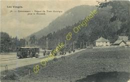 88. RETOURNEMER . Départ Du Tram électrique Pour Le Honneck . CPA Animée .  LES VOSGES . - France