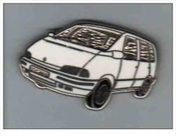 Pin's  Automobiles  RENAULT  ESPACE  Blanc  Verso  Logomobile - Renault