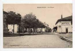 - CPA MARLIEUX (01) - La Place 1908 (HOTEL) - Edition L. Ravier - Cliché A. Cordier - - Francia