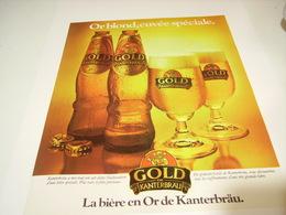 PUBLICITE BIERE  GOLD DE KANTERBRAU 1979 - Alcohols