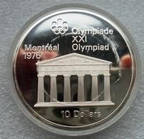 Canada, 10 Dollars QP, 1974, Zilver .925, 21e Olympics Montreal, In Capsule (krasjes Op Capsule) - Canada