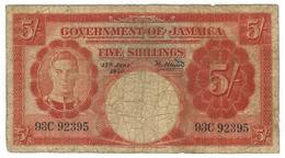 Jamaica, 5 Shillings  1950. G. - Jamaica