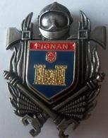 INSIGNE SAPEURS POMPIERS  PIGNAN 34 - Firemen