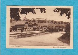 Bitche ( Moselle ). - La Gare Et La Citadelle. - Train En Gare. - Bitche