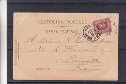Saint Marin - Carte Postale De 1899 - Exp Vers Bruxelles - Vue Du Palais - Lettres & Documents