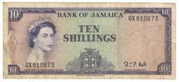 Jamaica, 10 Shillings  (1964). F+. - Jamaique