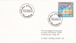 Luxembourg Plain FDC 1989 Astra Satellite (DD11-41) - Télécom