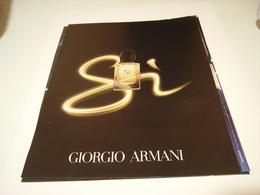 PUBLICITE AFFICHE PARFUM SI DE  GIORGIO  ARMANI  2016 - Fragrances