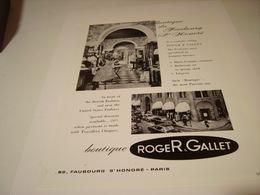 ANCIENNE PUBLICITE BOUTIQUE  ROGER GALLET 1964 - Other