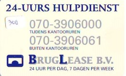 NEDERLAND CHIP TELEFOONKAART CRE 300 *  BRUG LEASE  *  Telecarte A PUCE PAYS-BAS * ONGEBRUIKT MINT - Netherlands