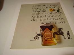 ANCIENNE AFFICHE  PUBLICITE PARFUM CALECHE DE HERMES 1965 - Parfums & Beauté