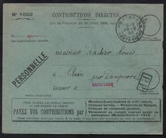 MONTBOZON - HAUTE SAONE / 1933 LETTRE EN FRANCHISE (ref LE2381) - France