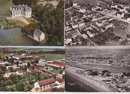 12 Cartes--vues Aeriennes De France---cpsm Noires Et Colorisées - Postcards