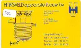 NEDERLAND CHIP TELEFOONKAART CRE 306 *  HARSVELD *  Telecarte A PUCE PAYS-BAS * ONGEBRUIKT MINT - Netherlands