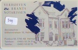 NEDERLAND CHIP TELEFOONKAART CRE 309 *  Verhoeven & Brants Notarissen *  Telecarte A PUCE PAYS-BAS * ONGEBRUIKT MINT - Netherlands