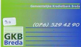 NEDERLAND CHIP TELEFOONKAART CRE 310 *  GKB BREDA *  Telecarte A PUCE PAYS-BAS * ONGEBRUIKT MINT - Netherlands