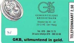 NEDERLAND CHIP TELEFOONKAART CRE 311 *  GKB DEN HAAG *  Telecarte A PUCE PAYS-BAS * ONGEBRUIKT MINT - Netherlands