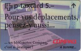 SUISSE - PHONE CARD - TAXCARD-PRIVÉE ***  KF129B - COMPAQ - Fr  *** - Switzerland
