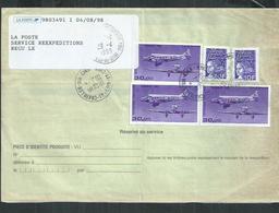 ,Aft 110Francs Avec PA No 59b Wibault 283 + 10F Marianne De Luquet Sur Ordre De Réexp Chatillon Sur Cher (Loir Et Cher) - 1961-....