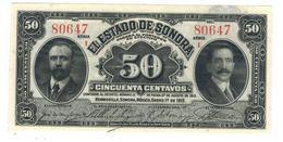 Mexico, ESTADO De SONORA, 50 Centavos, 1915,  UNC. - México