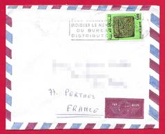 Enveloppe Oblitérée - Poste Aérienne - Voyagée Du Maroc Vers La France - Morocco (1956-...)