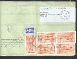 ,Aft 110Francs Avec 10F Marianne De Briat Et PA No 58 Hydravion CAMS 53 Sur Ordre De Réexp De Boqueho (Cotes D'Armor) - 1961-....