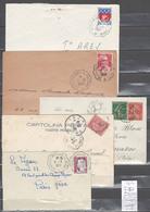 Lettre Avec Cachet Convoyeur Ax Les Thermes à Toulouse - à La Tour De Carol Et Retour  - 5 Piéces - Marcophilie (Lettres)