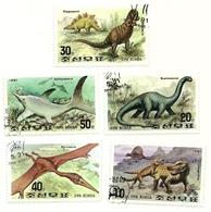 1991 - Corea Del Nord 2224/28 Dinosauri - Francobolli
