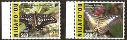 Tonga Niuafo'ou 2016 Yvertn° 403 A-B *** MNH Cote 162,80 Euro Fauna Papillons Vlinders Butterflies - Tonga (1970-...)