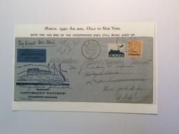 Norway OSLO 1940 Air Mail Cover To New York (1929 Postage Due Brief Norwegen Luftpost Lettre Facit 170, 158 USA - Norwegen