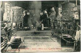 INDOCHINE CARTE POSTALE DE COCHINCHINE -CHOLON -INTERIEUR DE LA POGODE DES CANTONAIS AYANT VOYAGEE - Postales