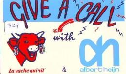 NEDERLAND CHIP TELEFOONKAART CRE 324 * Albert Heijn * VACHE  *  Telecarte A PUCE PAYS-BAS * ONGEBRUIKT MINT - Netherlands