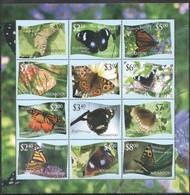 Tonga Niuafo'ou 2012 Yvertn° 333-344 *** MNH Cote 90 Euro Faune Papillons Vlinders Butterflies - Tonga (1970-...)