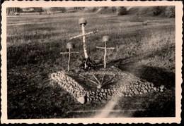 !  Foto, Photo, 2.Weltkrieg, Rußland, Russia, Ostfront, Guerre, 1941, Fallschirmjägergrab - Parachutisme