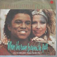 "45 Tours SP -  JERMAINE JACKSON & PIA ZADORA  - ARISTA 106883   "" WHEN THE RAIN BEGINS TO FALL "" + 1 - Autres - Musique Anglaise"
