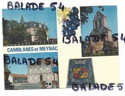 CPM - CAMBLANES Et MEYNAC (33) Château Courtade, La Mairie Et La Chapelle De Meynac, Blason - France
