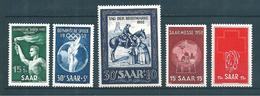Sarre Occupation Francaise Timbres De 1952 N°301 A 305   Neuf * Cote 23€ - Ongebruikt