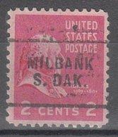 USA Precancel Vorausentwertung Preo, Locals South Dakota, Milbank 703 - Vereinigte Staaten