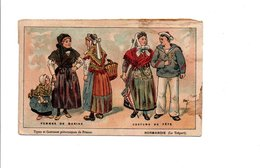 CHROMOS NATHAN - TYPES ET COSTUMES PITTORESQUES - NORMANDIE LE TREPORT - Cromo