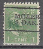 USA Precancel Vorausentwertung Preo, Locals South Dakota, Miller 701 - Vereinigte Staaten