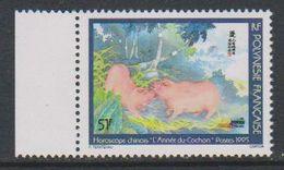 Polynesie Francaise 1995 Année Du Cochon 1v ** Mnh (39222) - Frans-Polynesië