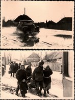 !  2 Fotos, Photos 2.Weltkrieg Merefa Bei Charkow, Chrakiw, Ukraine, 1942 - Ukraine