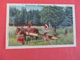 Greetings Shawano Lake Wis.    Ref 2999 - Native Americans